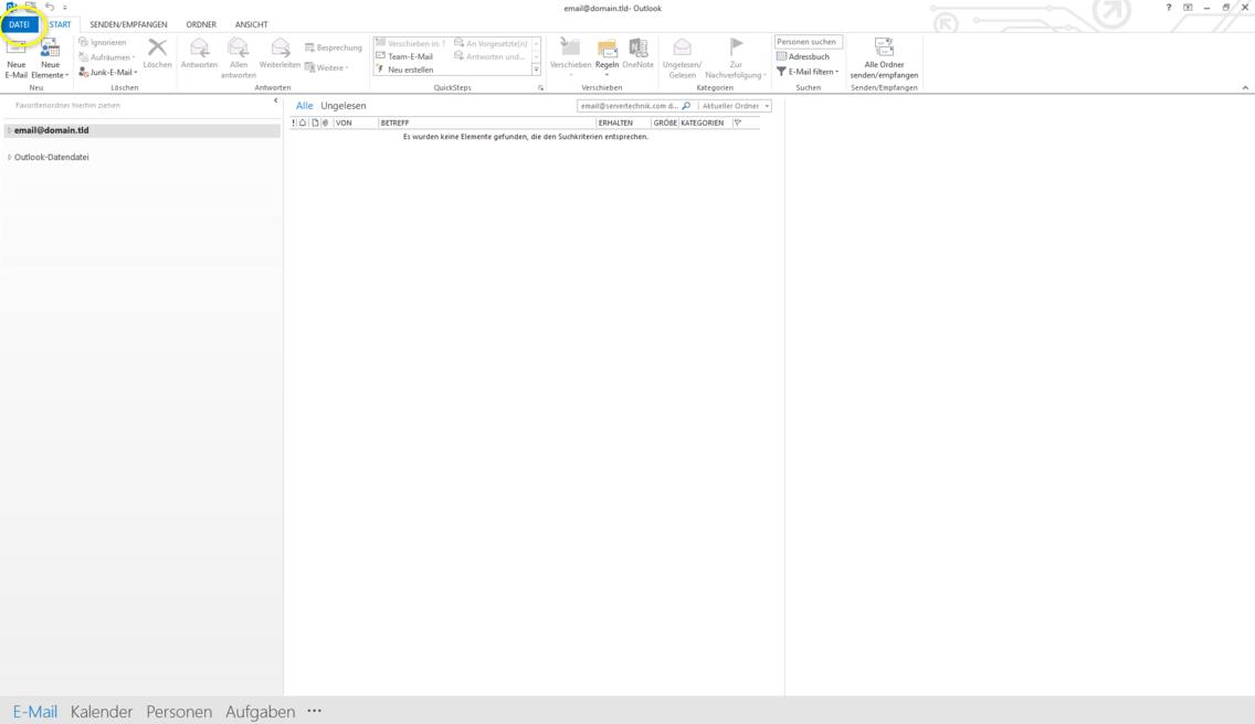 Microsoft Outlook 2013 - SSL