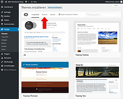 WordPress Theme installieren Screenshot 4