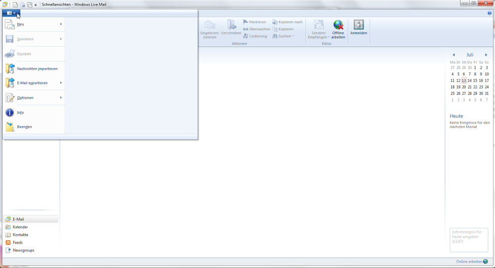 Windows Live Mail 2011 - Schritt 2