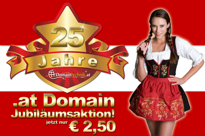 25 Jahre AT Domains