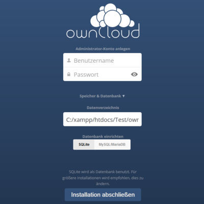 ownCloud Installation