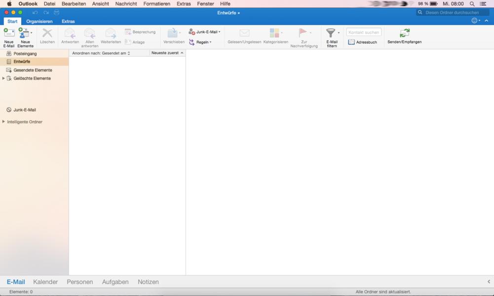 Anleitung E Mail Konto In Outlook 2016 Am Mac Einrichten Screenshot