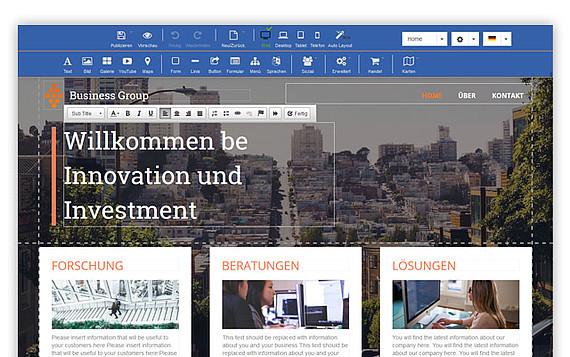 Homepage erstellen Schritt 3