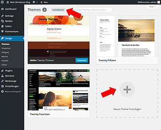 WordPress Theme installieren Screenshot 3