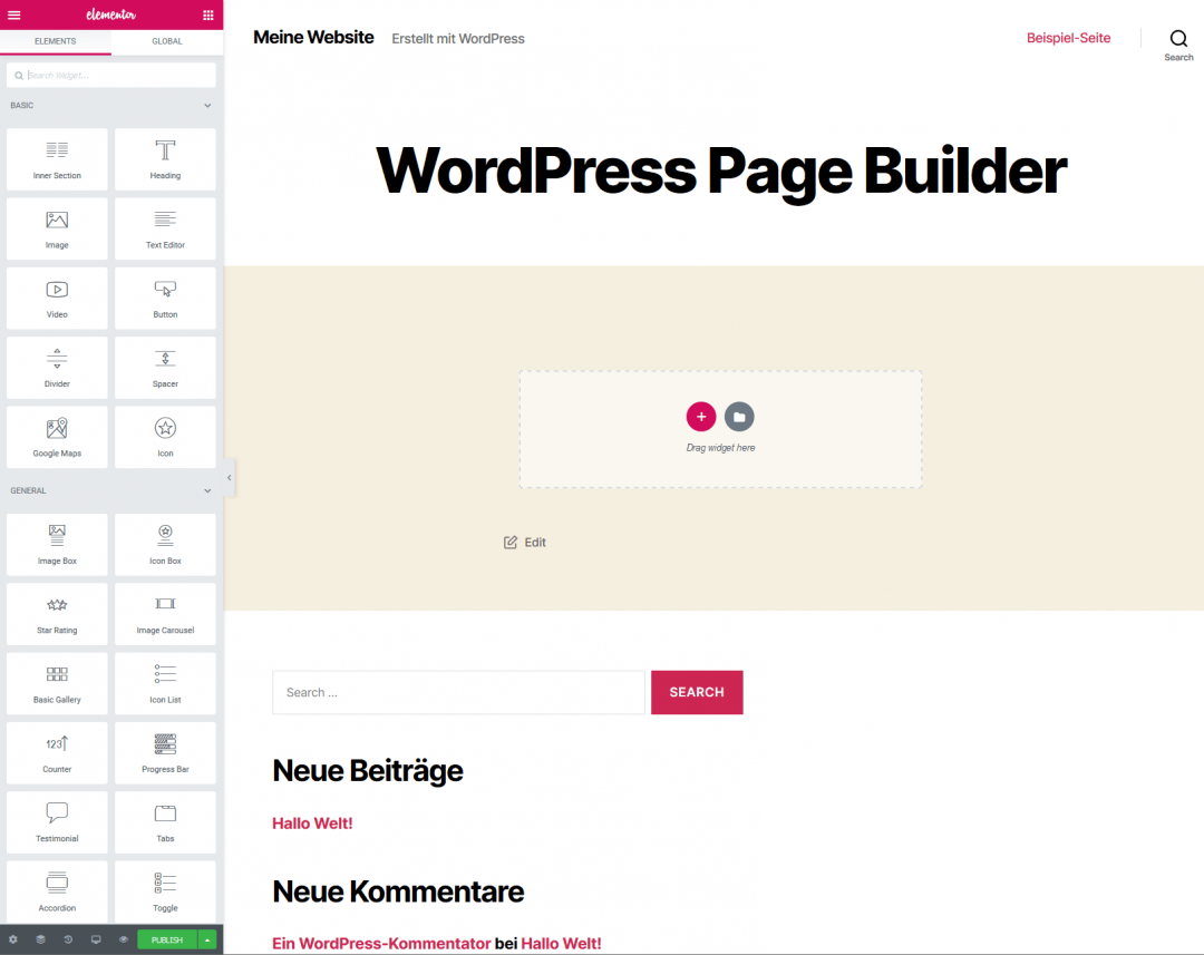WordPress Page Builder Elementor