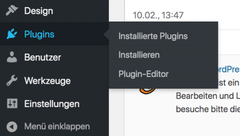WordPress Plugins im Dashboard installieren