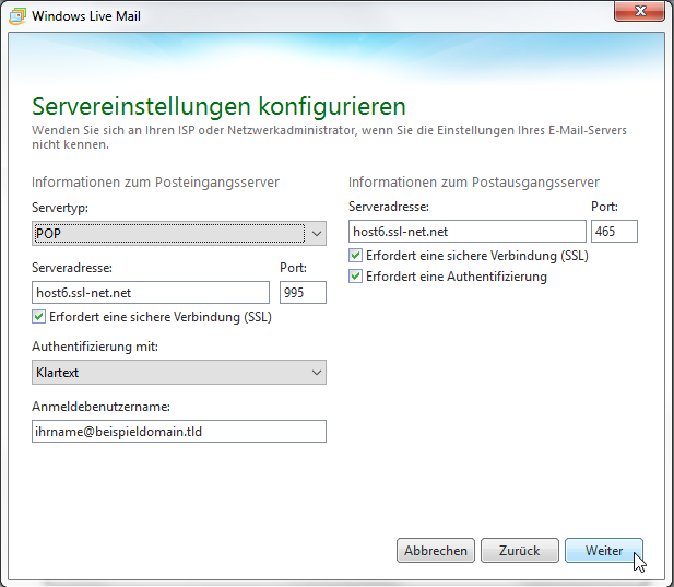 Windows Live Mail 2011 - Schritt 10
