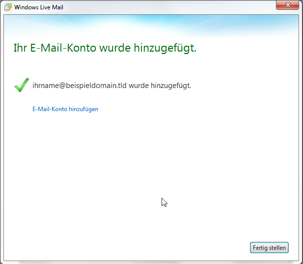 Windows Live Mail 2011 - Schritt 11