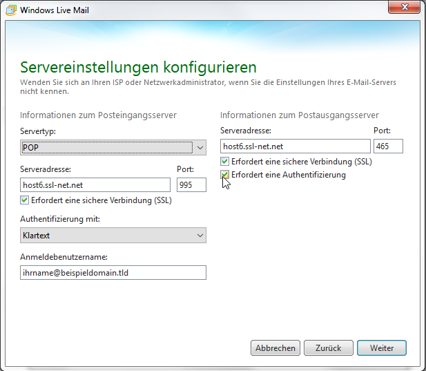 Windows Live Mail 2011 - Schritt 9