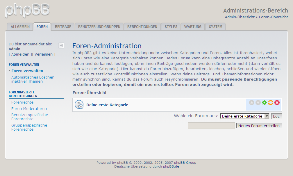phpBB Forum - Administration