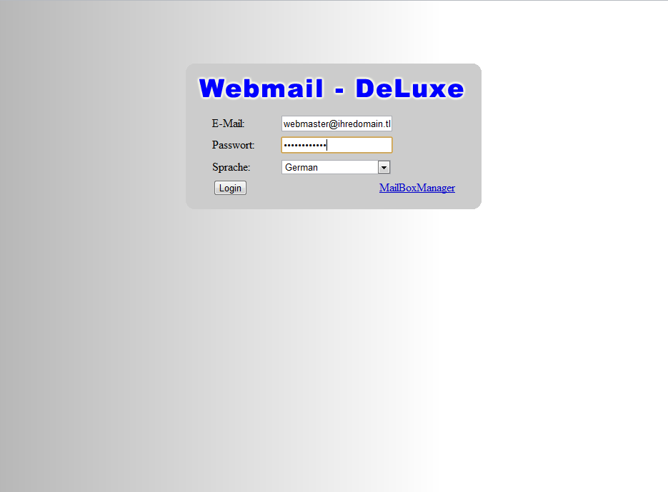 Squirrelmail Webmail Screenshot 1