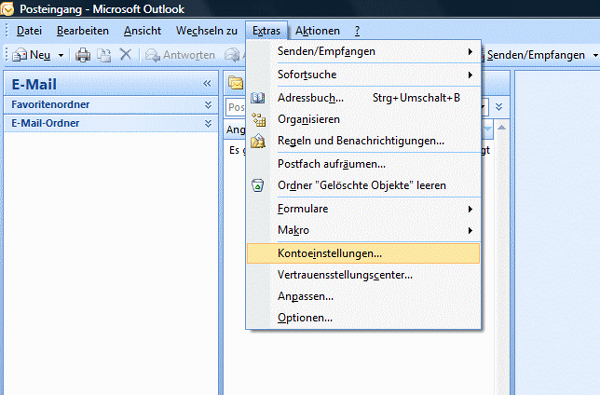 Anleitung E Mail Konto In Outlook 2007 Einrichten Inkl Screenshots