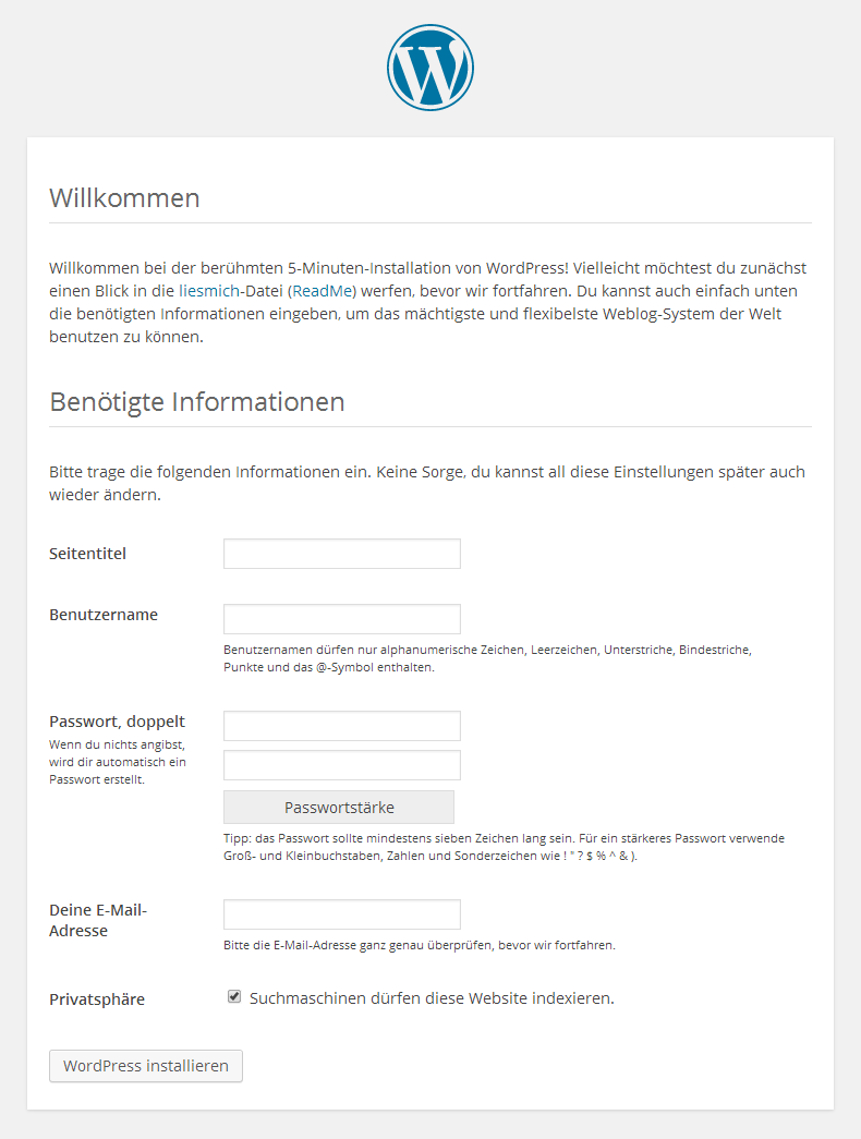 WordPress - Installation