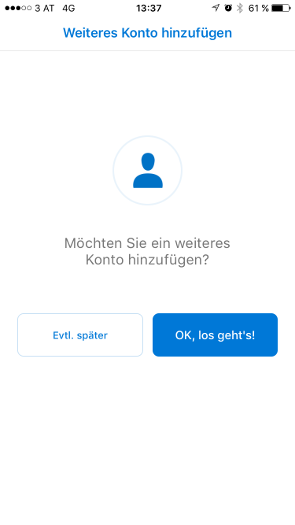 Outlook iOS Schritt 8