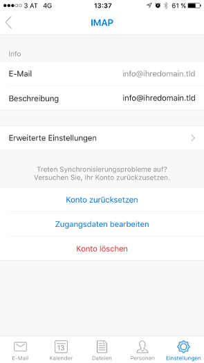 Outlook iOS Schritt 10.2