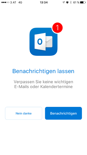 Outlook iOS Schritt 2