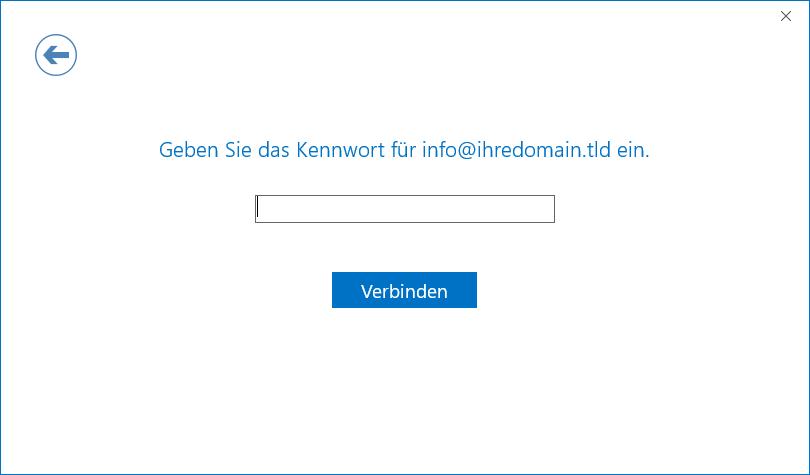 Outlook 2016 einrichten - Schritt 8